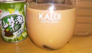 仙草のミルクティー